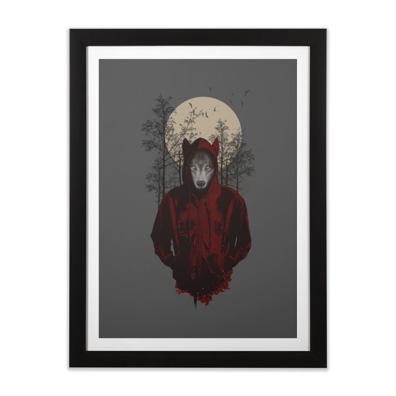 Red Hood Home Framed Fine Art Print by mitchdosdos's Shop
