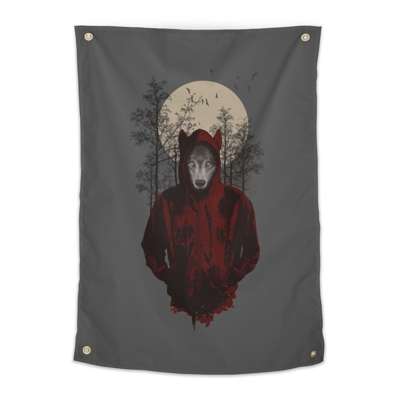Red Hood Home Tapestry by mitchdosdos's Shop
