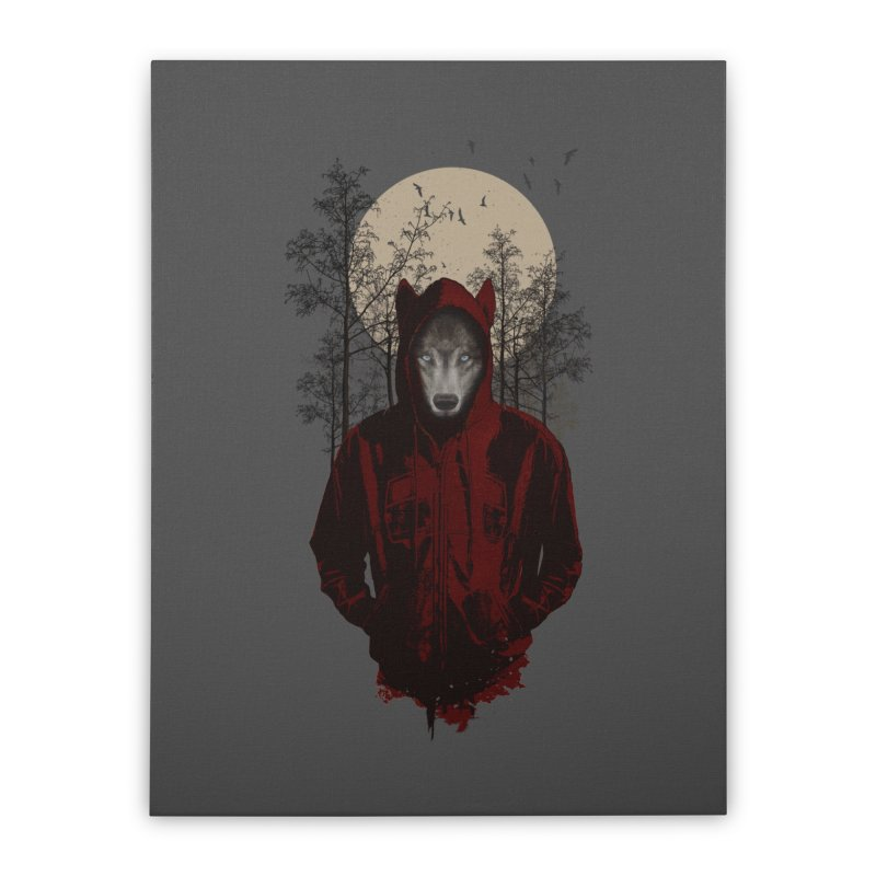 Red Hood Home Stretched Canvas by mitchdosdos's Shop