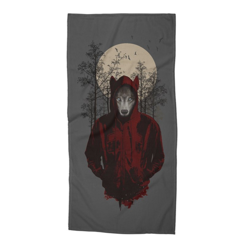 Red Hood Accessories Beach Towel by mitchdosdos's Shop