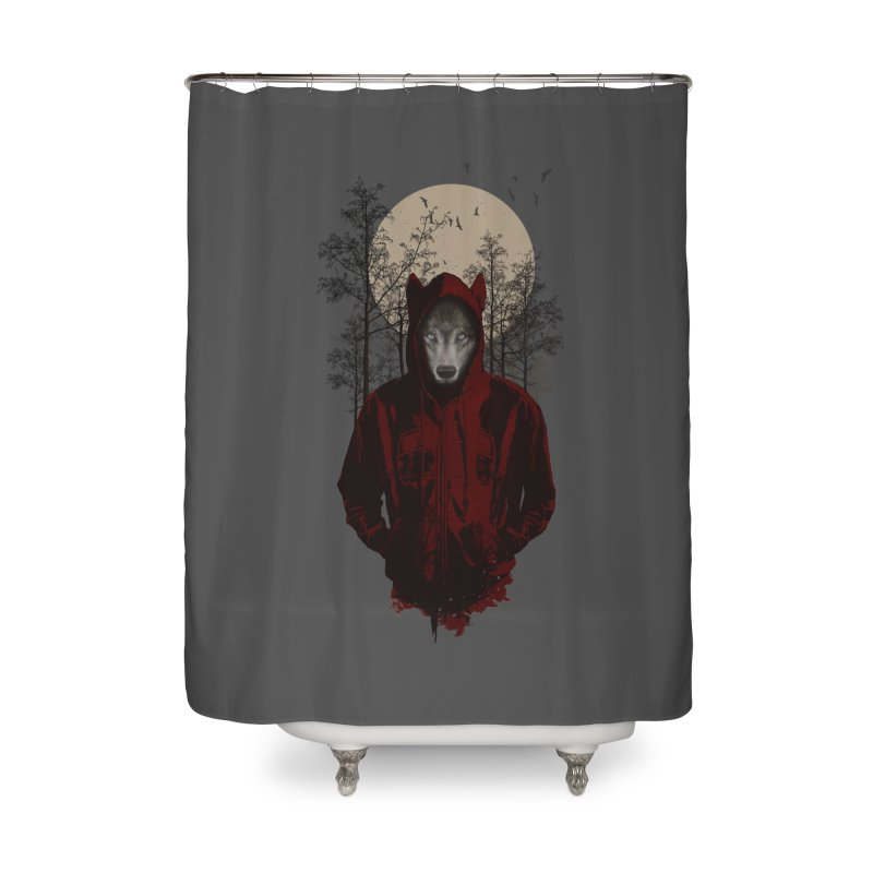 Red Hood Home Shower Curtain by mitchdosdos's Shop