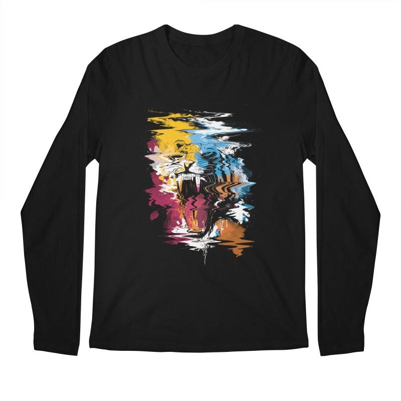 Raging Tiger Glitch Men's Longsleeve T-Shirt by mitchdosdos's Shop