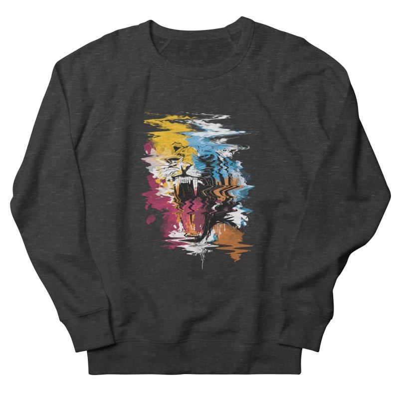 Raging Tiger Glitch Men's Sweatshirt by mitchdosdos's Shop