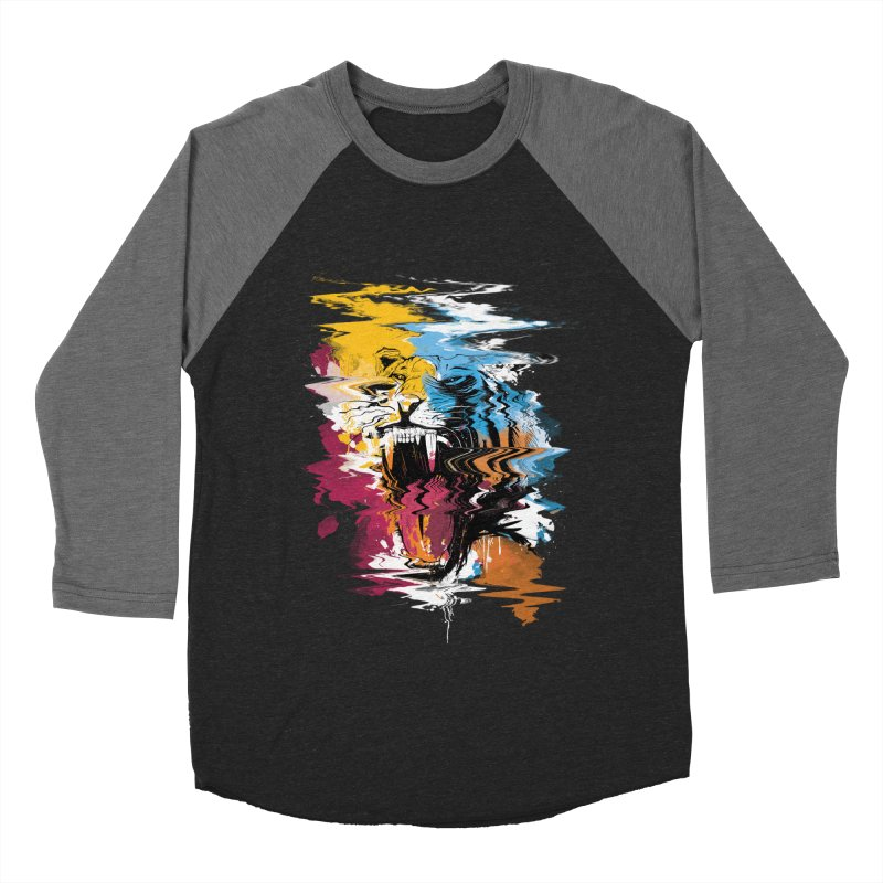Raging Tiger Glitch Men's Baseball Triblend T-Shirt by mitchdosdos's Shop