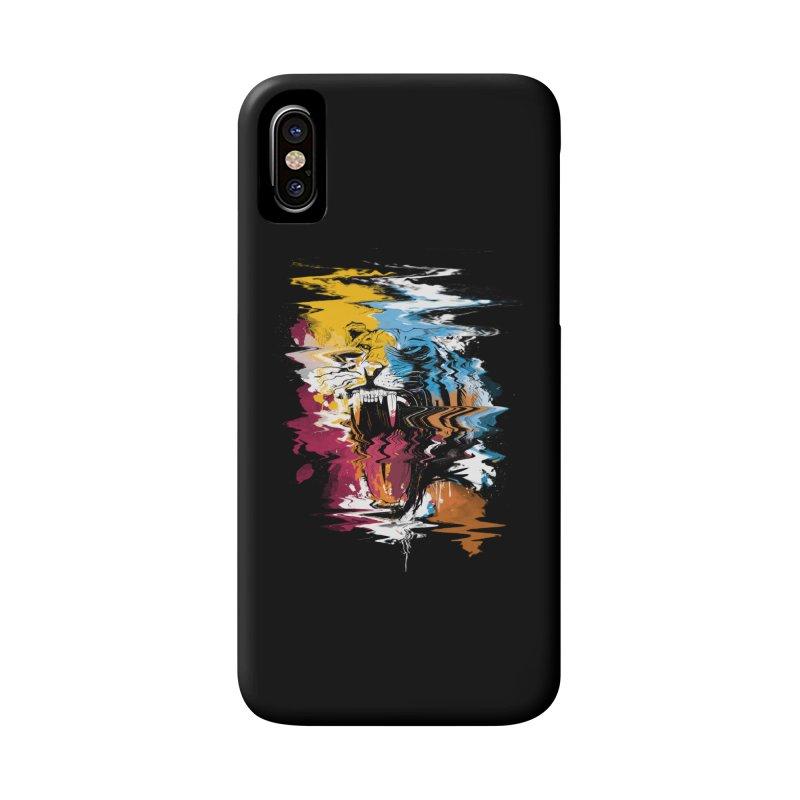 Raging Tiger Glitch Accessories Phone Case by mitchdosdos's Shop