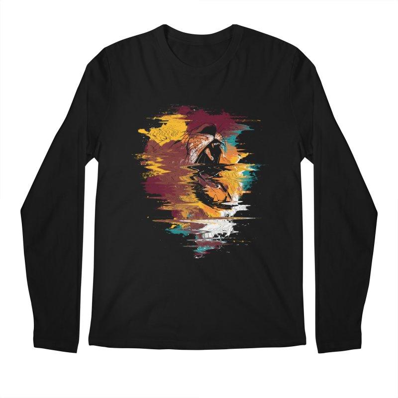 Raging Lion Glitch Men's Longsleeve T-Shirt by mitchdosdos's Shop