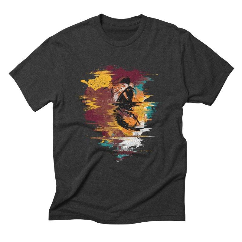 Raging Lion Glitch Men's Triblend T-shirt by mitchdosdos's Shop