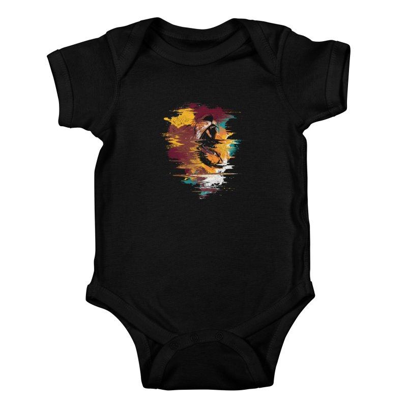 Raging Lion Glitch Kids Baby Bodysuit by mitchdosdos's Shop