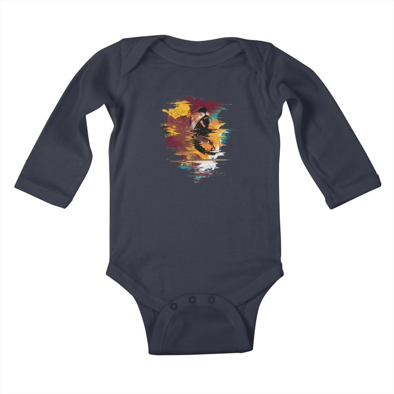 Raging Lion Glitch Kids Baby Longsleeve Bodysuit by mitchdosdos's Shop