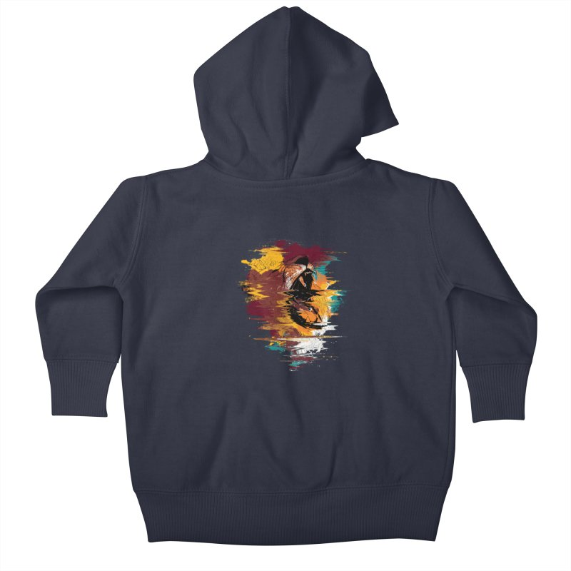 Raging Lion Glitch Kids Baby Zip-Up Hoody by mitchdosdos's Shop