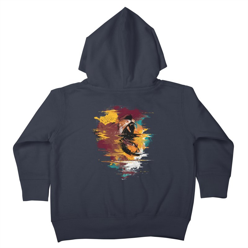 Raging Lion Glitch Kids Toddler Zip-Up Hoody by mitchdosdos's Shop