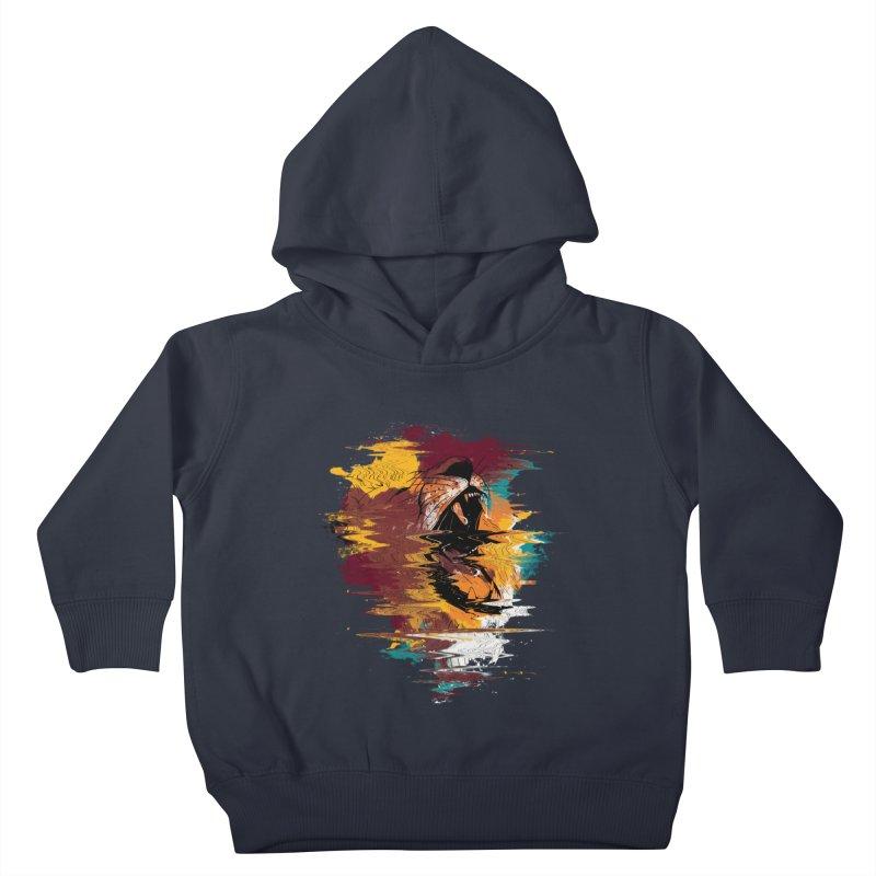 Raging Lion Glitch Kids Toddler Pullover Hoody by mitchdosdos's Shop