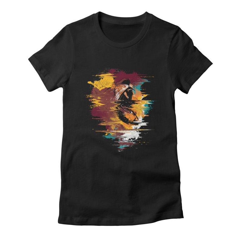 Raging Lion Glitch Women's Fitted T-Shirt by mitchdosdos's Shop