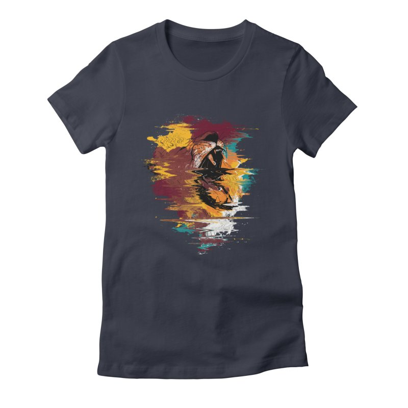 Raging Lion Glitch Women's Fitted T-Shirt by mitchdosdos's Shop