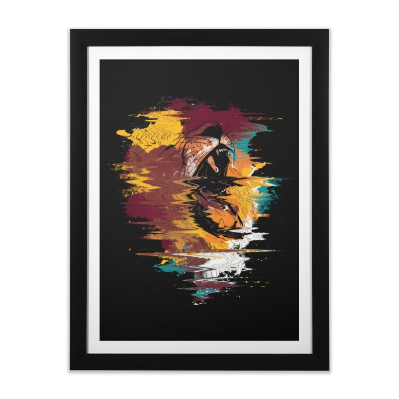 Raging Lion Glitch Home Framed Fine Art Print by mitchdosdos's Shop
