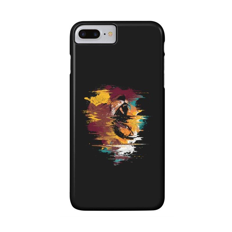 Raging Lion Glitch Accessories Phone Case by mitchdosdos's Shop