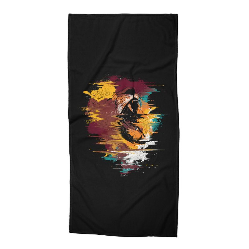 Raging Lion Glitch Accessories Beach Towel by mitchdosdos's Shop
