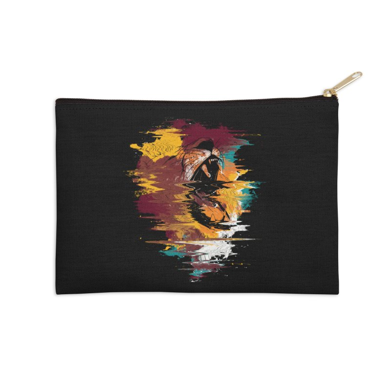 Raging Lion Glitch Accessories Zip Pouch by mitchdosdos's Shop