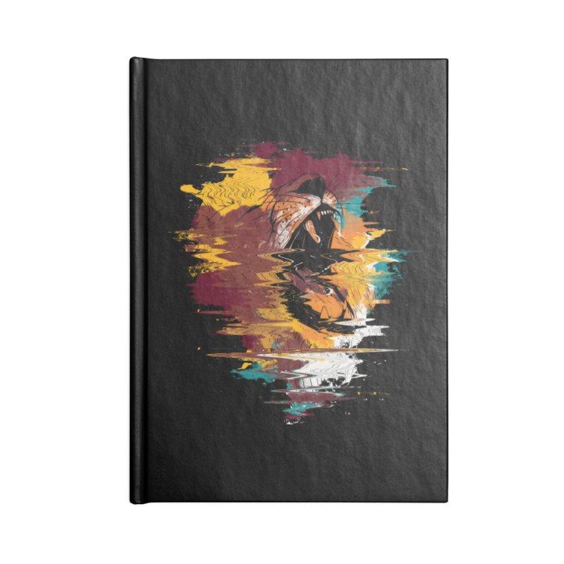 Raging Lion Glitch Accessories Notebook by mitchdosdos's Shop
