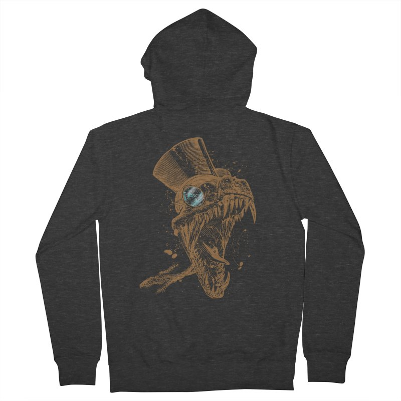 Dino Men's Zip-Up Hoody by mitchdosdos's Shop