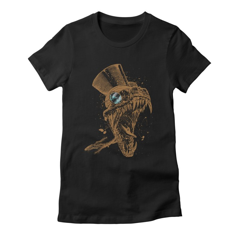 Dino Women's Fitted T-Shirt by mitchdosdos's Shop