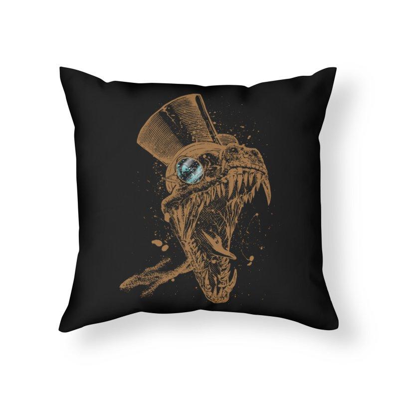 Dino Home Throw Pillow by mitchdosdos's Shop