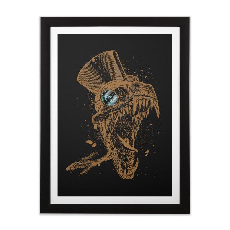 Dino Home Framed Fine Art Print by mitchdosdos's Shop