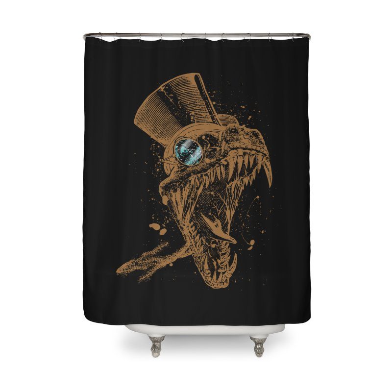 Dino Home Shower Curtain by mitchdosdos's Shop