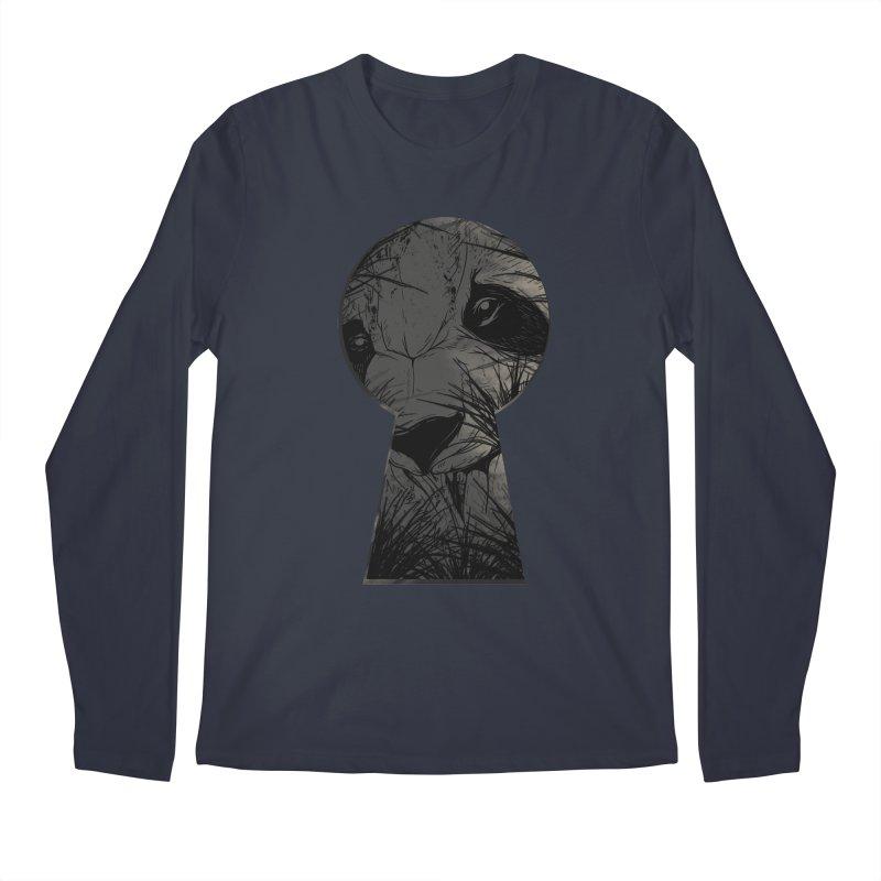 Peeping Panda Men's Longsleeve T-Shirt by mitchdosdos's Shop
