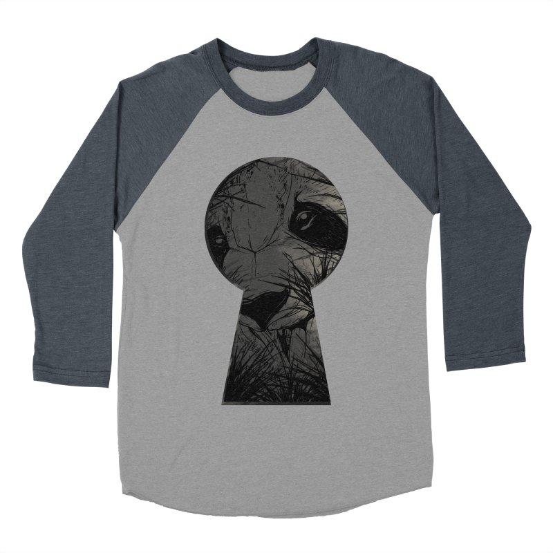 Peeping Panda Men's Baseball Triblend T-Shirt by mitchdosdos's Shop