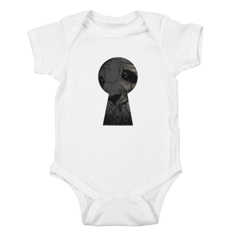 Peeping Panda Kids Baby Bodysuit by mitchdosdos's Shop