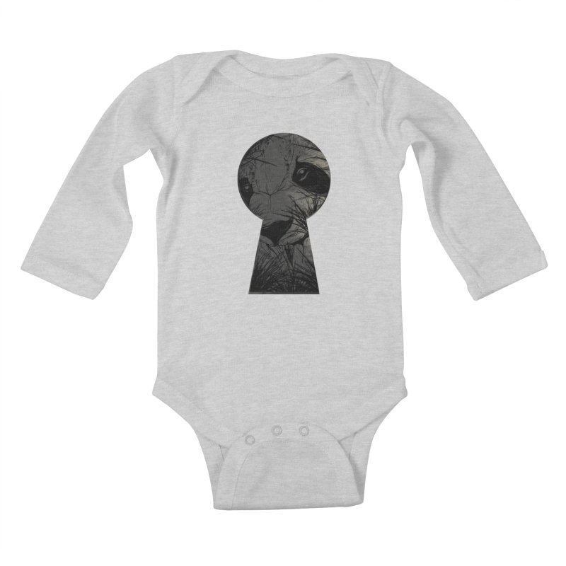 Peeping Panda Kids Baby Longsleeve Bodysuit by mitchdosdos's Shop