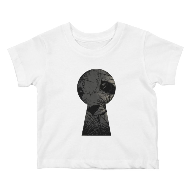 Peeping Panda Kids Baby T-Shirt by mitchdosdos's Shop