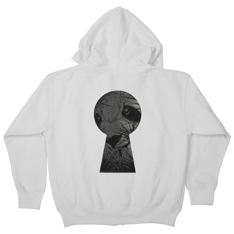 Peeping Panda Kids Zip-Up Hoody by mitchdosdos's Shop