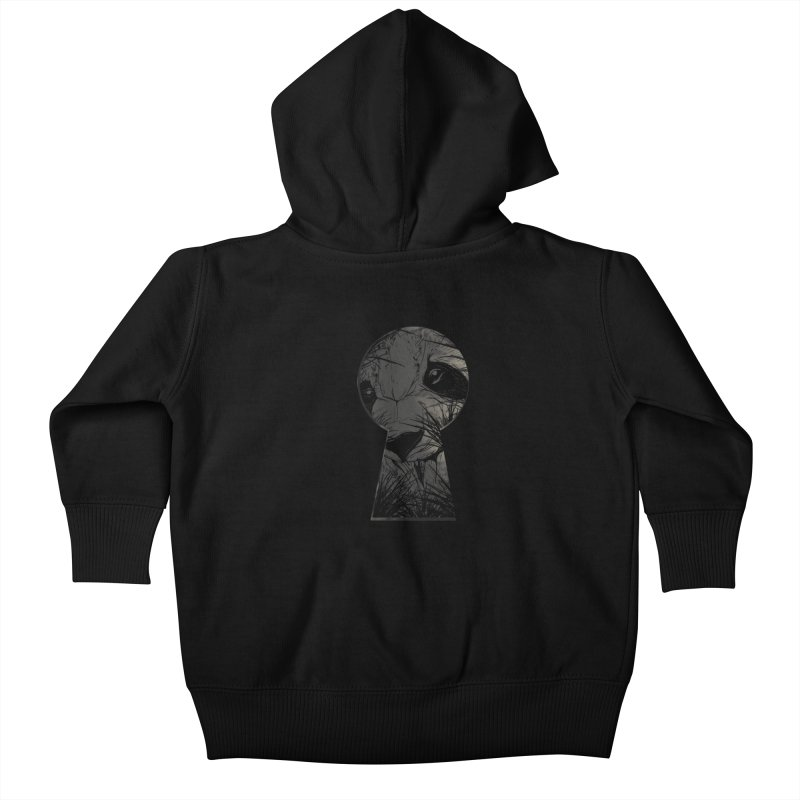 Peeping Panda Kids Baby Zip-Up Hoody by mitchdosdos's Shop