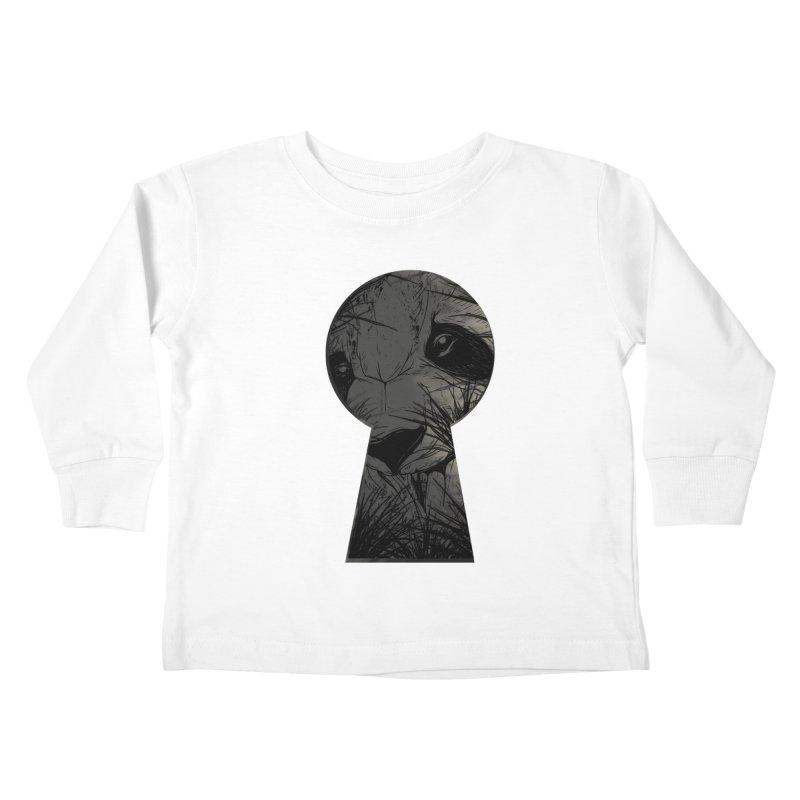 Peeping Panda Kids Toddler Longsleeve T-Shirt by mitchdosdos's Shop