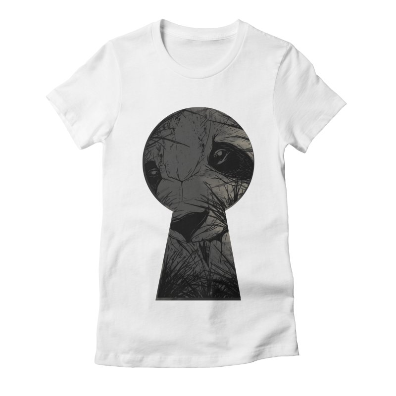 Peeping Panda Women's Fitted T-Shirt by mitchdosdos's Shop