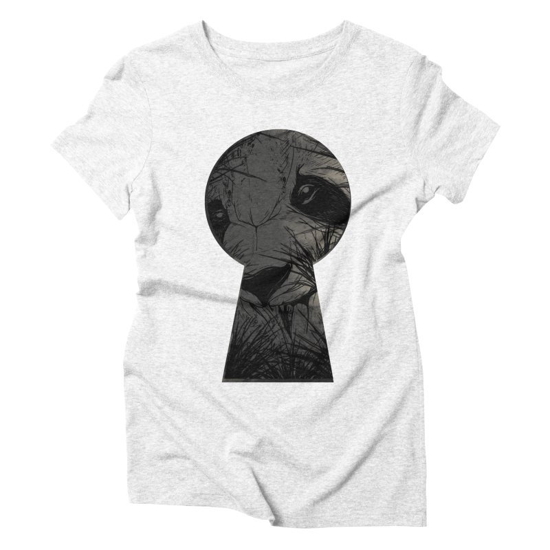 Peeping Panda Women's Triblend T-shirt by mitchdosdos's Shop