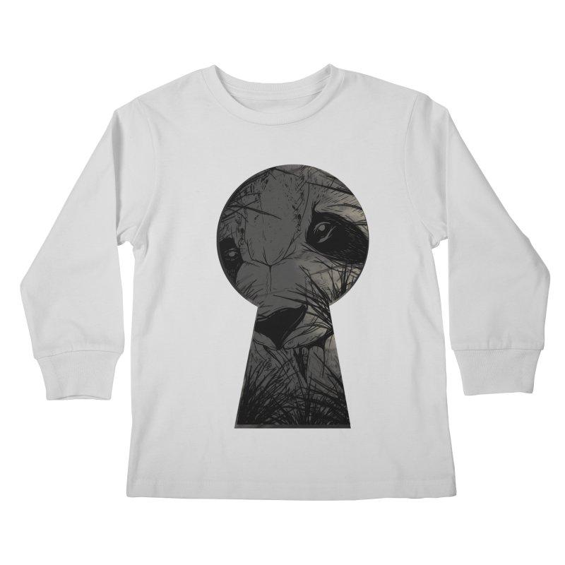 Peeping Panda Kids Longsleeve T-Shirt by mitchdosdos's Shop