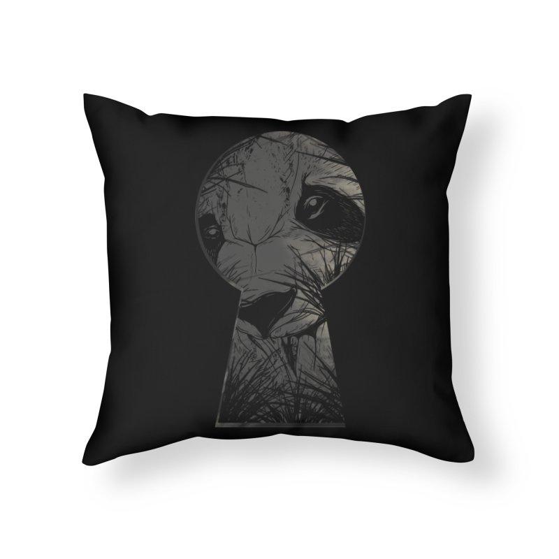 Peeping Panda Home Throw Pillow by mitchdosdos's Shop