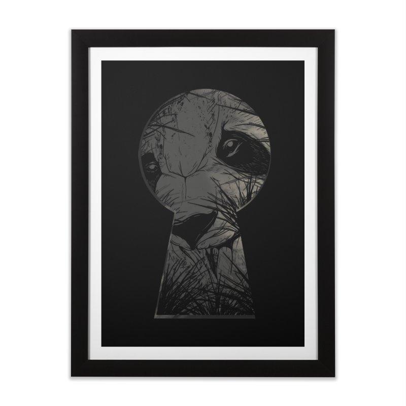 Peeping Panda Home Framed Fine Art Print by mitchdosdos's Shop