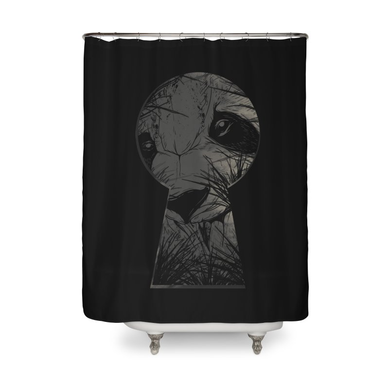 Peeping Panda Home Shower Curtain by mitchdosdos's Shop