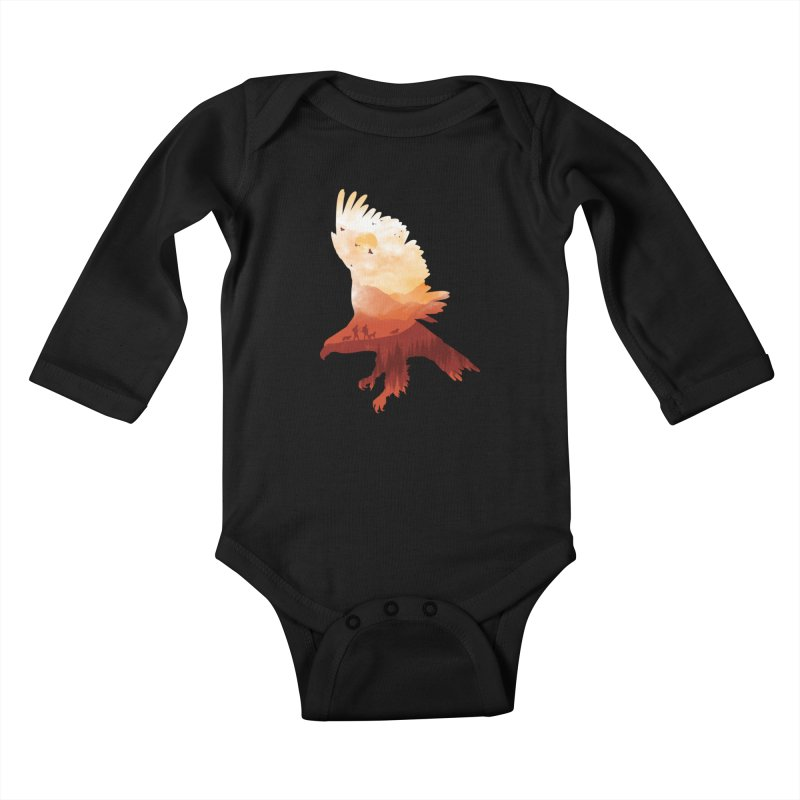 Dawn Hunters Kids Baby Longsleeve Bodysuit by mitchdosdos's Shop
