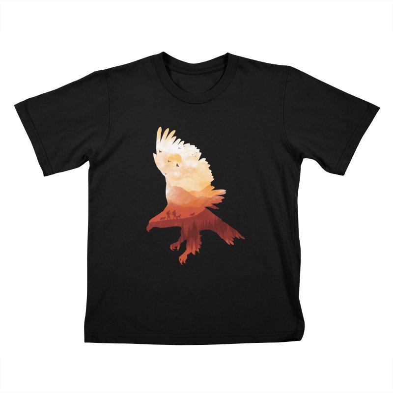 Dawn Hunters Kids T-shirt by mitchdosdos's Shop