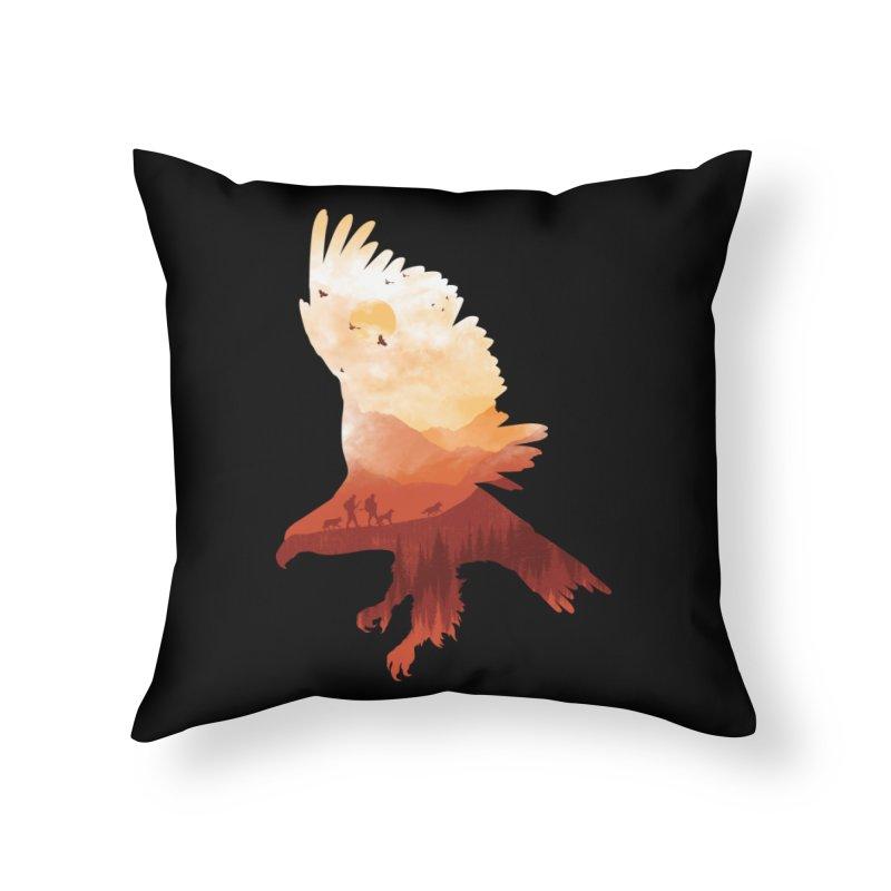 Dawn Hunters Home Throw Pillow by mitchdosdos's Shop