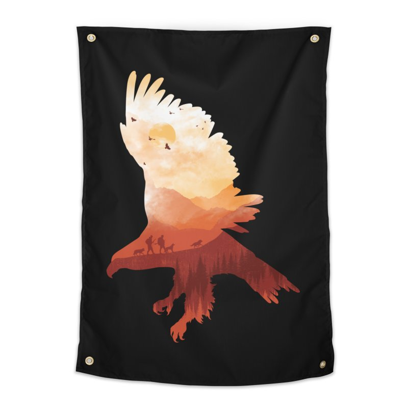 Dawn Hunters Home Tapestry by mitchdosdos's Shop