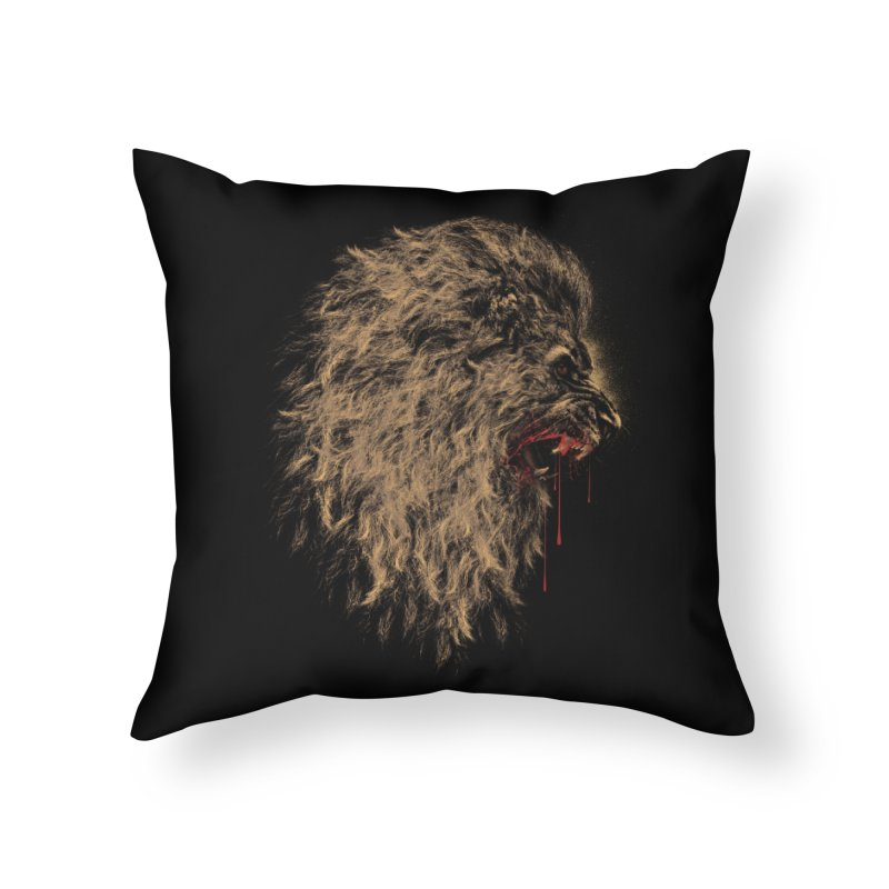 The King Home Throw Pillow by mitchdosdos's Shop