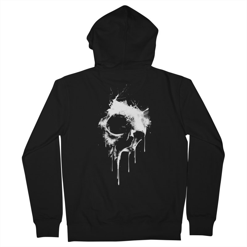Melted Skull Men's Zip-Up Hoody by mitchdosdos's Shop
