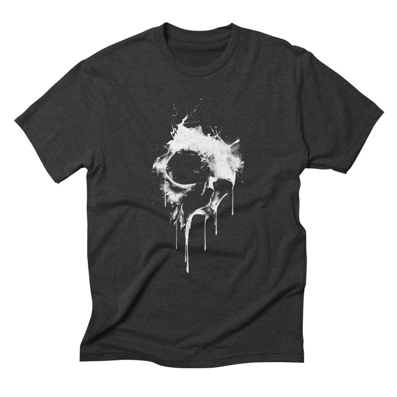 Melted Skull Men's Triblend T-Shirt by mitchdosdos's Shop