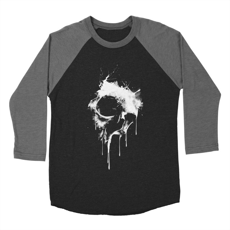 Melted Skull Men's Baseball Triblend T-Shirt by mitchdosdos's Shop